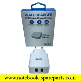 NCTS DUAL WALL CHARGER 5V 2A WITH 2 USB PORTS MODEL:NCTS-WALLCH2