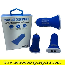 NCTS DUAL CAR CHARGER 5V 2A WITH 2 USB PORTS MODEL:NCTS-CARCH1