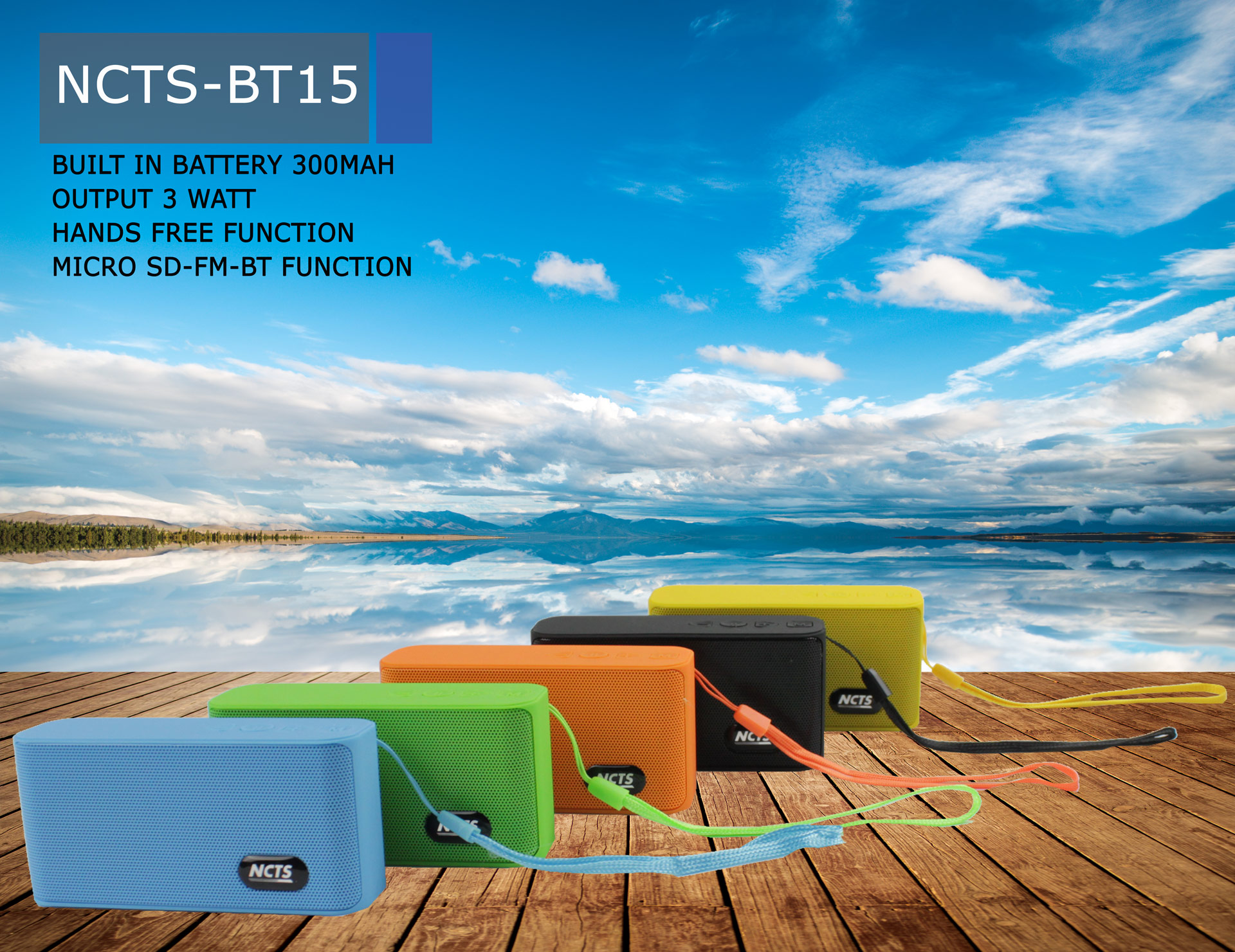 BLUETOOTH SPEAKER NCTS-BT15 (5 COLORS)