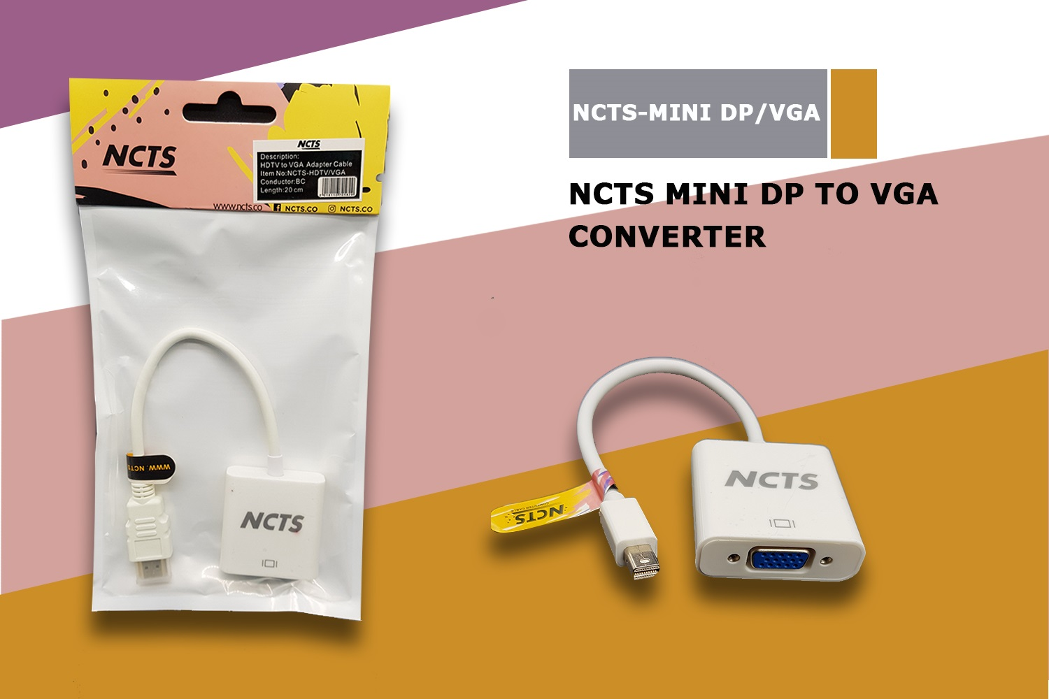 NCTS MINI DP TO VGA